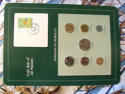 Coin Sets of All Nations Morocco UNC w/Card 1974-1987 5 Dirhams 1980