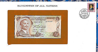 *Banknotes of All Nations Jordan 1/2 Half Dinar UNC 1975 P17d signature 17*