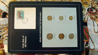 Coin Sets of All Nations Bulgaria w/card All 1974 UNC Elephant stamp
