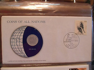 Coins of All Nations San Marino 10 Lire 1974 UNC