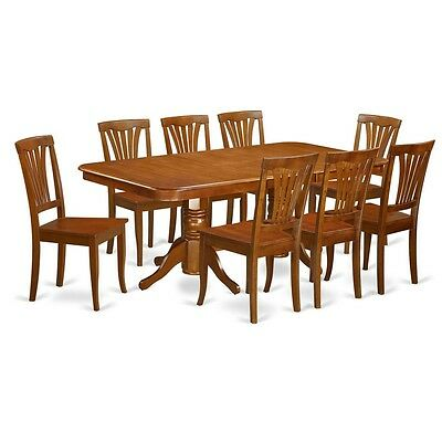 9 PIECE FORMAL Dining Room Set Dining Table And 8 Kitchen Dining Chairs. NEW