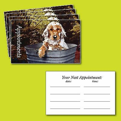 100 x Appointment Cards Dog Grooming, Puppy Pampering
