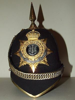 British Victorian 1878 Pattern Home Service Spiked Helmet - Northamptonshire Reg