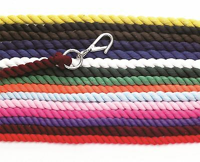 Hy Cotton Lead Rope with Wednesbury Clip Various Colours 1.8m 3655P