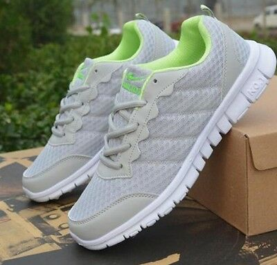 New Men's Fashion Breathable Shoe Casual Sneakers GRAY  Shoes US8.5