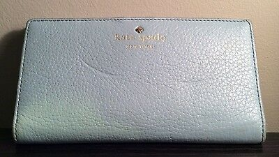 Kate Spade Light Blue Leather Long Wallet