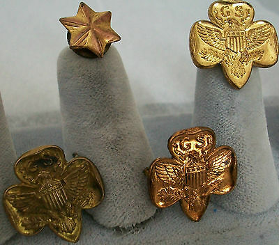 Vintage Lot of 4 Girl Scout Pins-