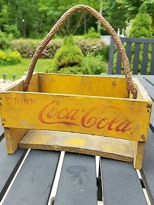 Coca Cola 1940S Wood 6 Pack Carrier