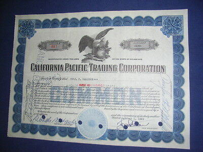 14 x California Pacific Trading Corp. odd shares, 1929