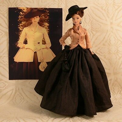 """OUTLANDER INSPIRED Claire Fraser CUSTOM DOLL Dior Bar Suit """"Dragonfly in Amber"""""""