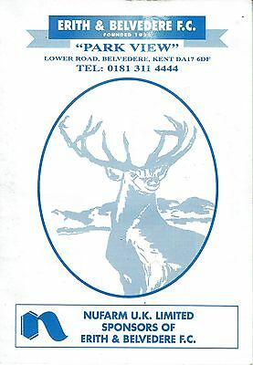 Erith & Belvedere v Ruislip Manor - FA Cup 2nd Qualifying Round Replay - 1997/98