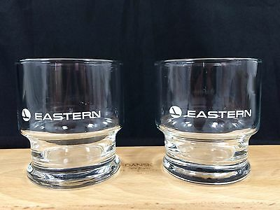 "2 Eastern Airlines Rock Glasses - 3 1/4"" Tall 8.75 oz. Libbey Set"
