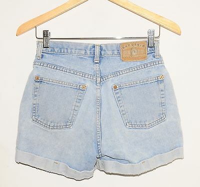 "VINTAGE GAP Light Was Denim Cut Off Shorts - 26"" Waist"