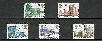 GB Stamps 1992 High Value Castles Used Set SG 1611-1614
