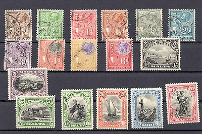 Malta 1926 Pictorials Mint (and used) Cat £160 (2012)