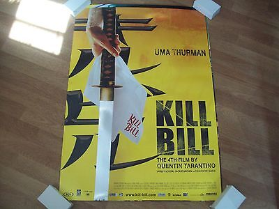 Kill Bill Cinema one sheet Poster  full size ORIGINAL Silver foil Tarantino