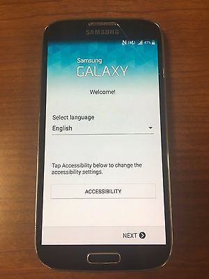 Samsung Galaxy S4 - SGH-I337 - 16GB - Black (Bell Mobility) Smartphone CRACKED G