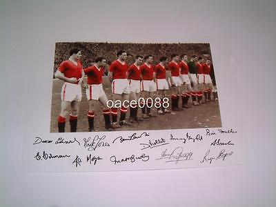 Manchester United Fc Busby Babes 1958 Last Line Up Signed (Pre-Printed) Photo