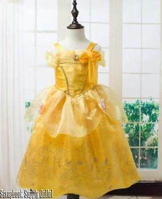 Belle Princess Disney inspired Dress costume Child Toddler Beauty Beast FREE SHP