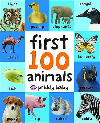 First 100 Animals Children Books Early Learning Board Toddlers Baby Kids Gift