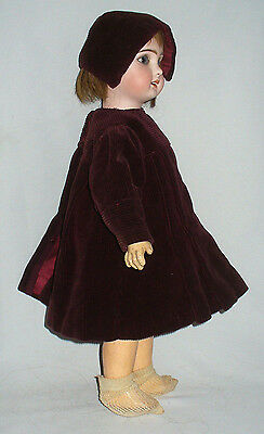 Antique & rare French doll Bisque Head Jumeau clothings dresses Box 1900 socks