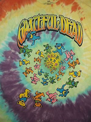GRATEFUL DEAD Bears t-shirt tie dye Cotton 3XL jam band