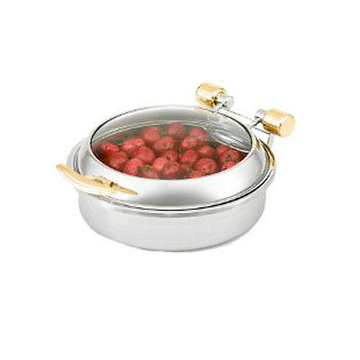 Vollrath 46125 6 Quart Intrigue Glass Top Induction Large Round Chafing Dish