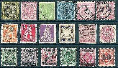 German States, a small selection of fine mint & used stamps.