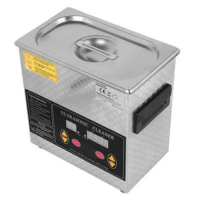 Stainless Steel Industry Ultrasonic Cleaner 3L Liter Heated Heater w/Timer