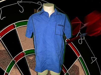Unicorn Mens Teknik Darts Shirt - Blue size M (NEW)