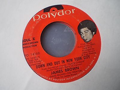James Brown - Down And Out In New York City - Us Polydor 45 - Funk