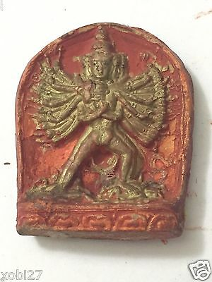 Antique  Mongolian Buddhist Clay Tsa Tsa Of A Deity