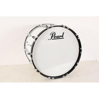 Pearl Competitor Marching Bass Drum Pure White (#33), 22x14 190839074324