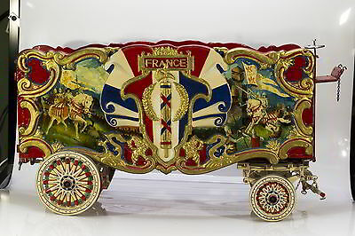 "Circus Wagon Model - ""France Tableau Wagon"" - 1940's-50's"
