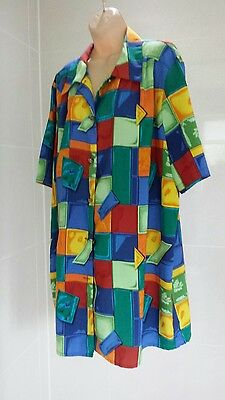 Ladies Lovely Bright Shirt/Top by Elizabeth S  - Size 20