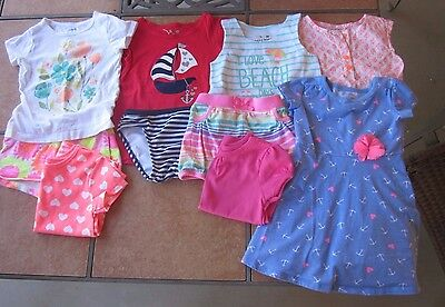 Lot of 2T / 24 month girl summer clothes - Carters Jumping Beans