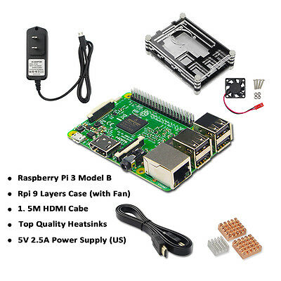 Raspberry Pi 3 Model B 1GB RAM Quad Core 1.2GHz CPU Starter Kit