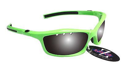 RayZor Uv400 Green Hiking Sports Wrap Sunglasses Smoke Mirror Lens RRP£49 (401)