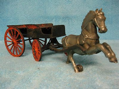 1890 CAST IRON HORSE DRAWN WAGON by SHIMER ..... rare & nice