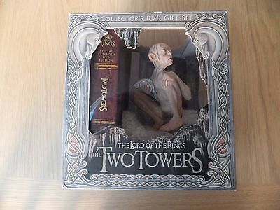 Lord of the Rings Two Towers Collectors DVD Box Set 5 disc R1 with Gollum Statue
