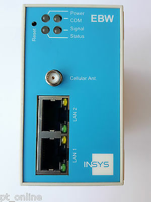 INSYS EBW-H100 HSPA industrial router with 2-port switch 3G/HSPA GPRS/EDGE