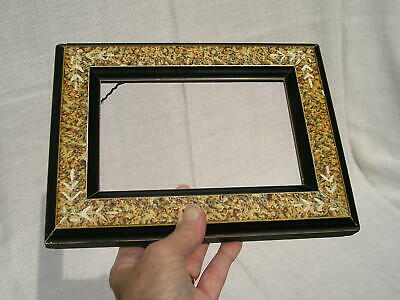 Small Antique Eastlake Victorian Carved Sponged Picture Frame 4 1/4 x 6 1/2 Nice