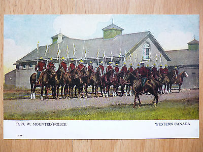 R.n.w. Mounted Police Western Canada  Vintage Postcard From Regina Collection
