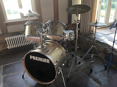 Premier Cabria Drum Kit, Cymbals, Stool and Music Stand