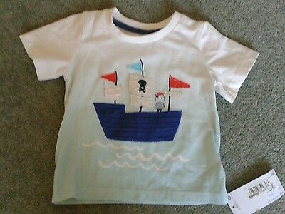 Fab BNWT Baby Boys M&S Pirate Ship Top T-Shirt, age 3-6 months