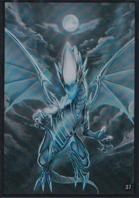 (100)YuGiOh Card Protecter Blue-Eyes White Dragon Card Sleeves 100 Pcs 63x90 mm