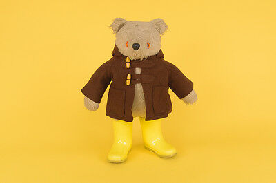 Vintage 1972 Paddington Bear by Gabrielle Designs with Brown Coat and Yellow