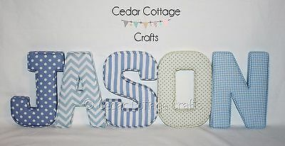 Fabric letters, Wall Art Handmade Padded, Nursery, name, personalised, baby