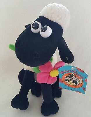 """Wallace and Gromit Shaun Sheep soft plush toy new NWT 10"""""""