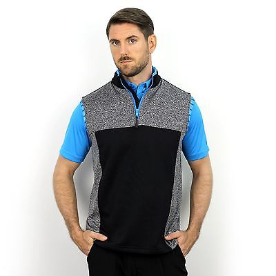 New 2017 Walrus Percy 1/4 Zip Sleeveless Golf Pullover Vest - Charcoal